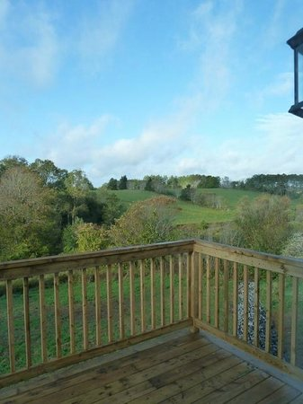 At Townsend B&B: Countryside views from our deck