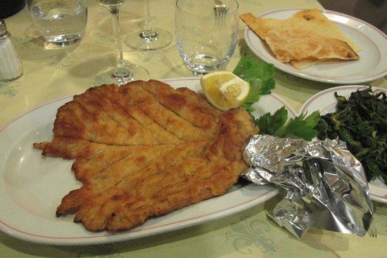 Trattoria Toscana di Giovanni:                   costoletta alla milanese