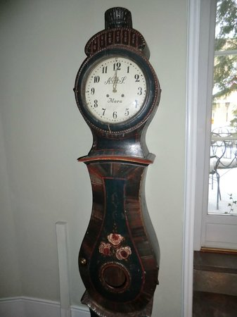 Victory Hotel:                                     One of several antique Swedish clocks displayed in the hotel