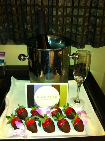 Kimpton Nine Zero Hotel:                                     Special delivery from room service, it was fabulous!