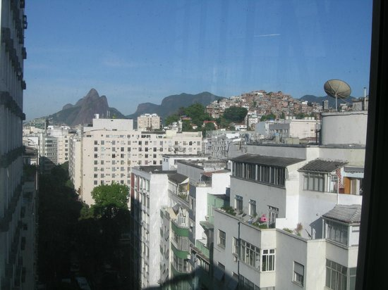 Rio Design Hotel:                   View from the breakfast room
