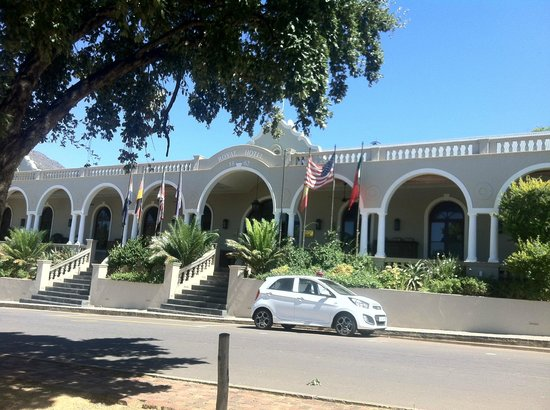 The Royal Hotel:                   Entrance of the hotel at Mainstreet Riebeek Kasteel