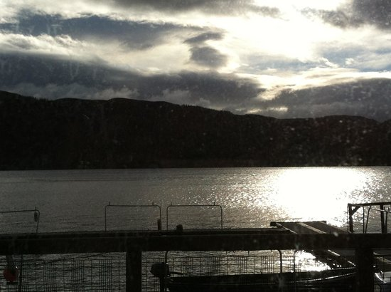 Venachar Lochside:                   View from Harbour Cafe