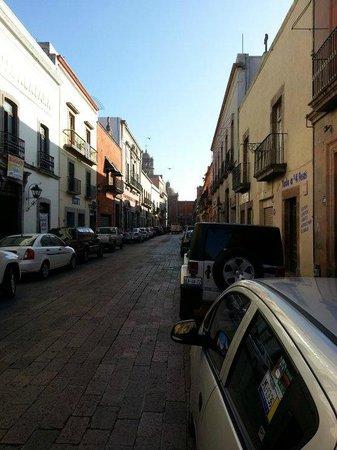 La Casa de la Marquesa:                   view of street in front of hotel