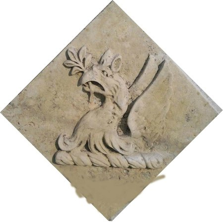 The Old Manor House: griffin crest