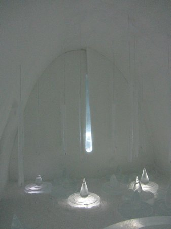 Icehotel:                   Another designer bedroom