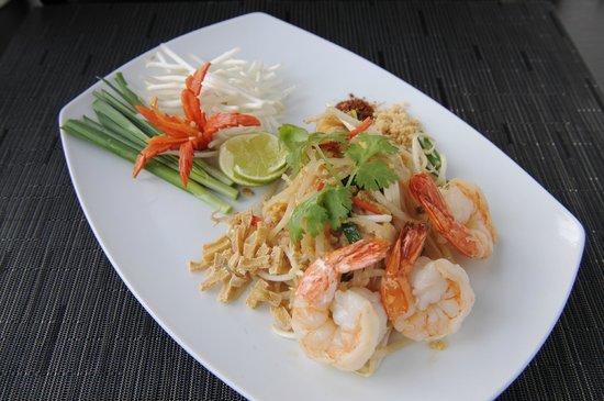 Thailändische Spezialität im Restaurant Nam Thai