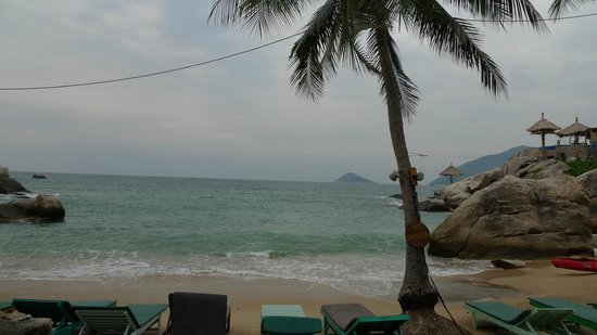 Charm Churee Villa:                   Beach late on a cloude day