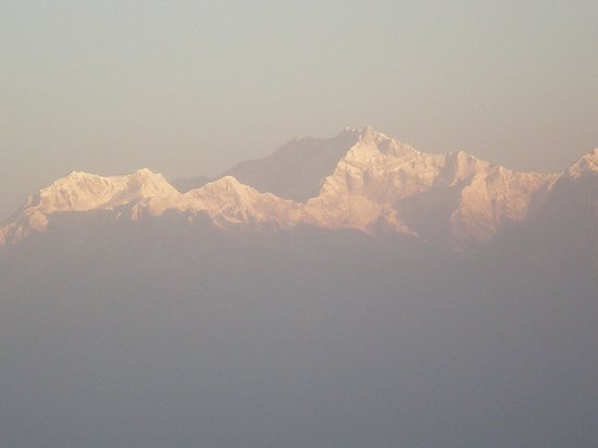 Kanchenjunga Mountain:                   the 'GOLDEN PEAK' from tiger hill