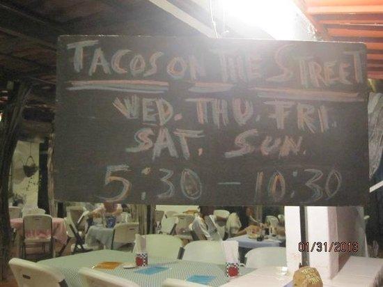 Tacos on the Street, La Cruz
