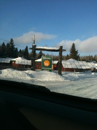 Adventure Lodge:                   what a welcome sight after a long drive :)