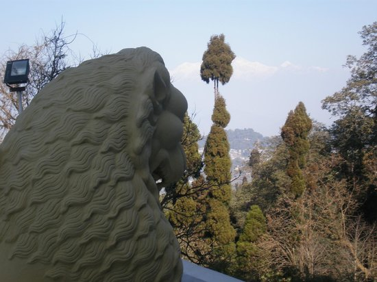 Japanese Peace Pagoda: lion head