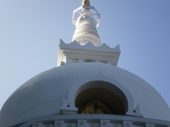 Japanese Peace Pagoda: the corona..