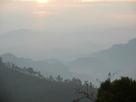 Villa Retreat:                   Sunrise over the hills and valley