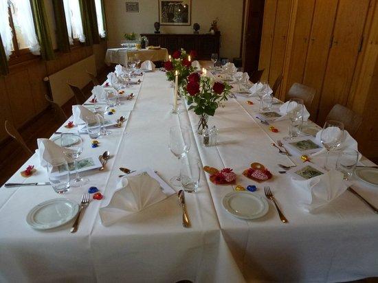 Hotel Appenberg:                   Vorbereitet zum Festmahl
