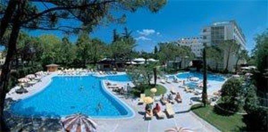 Hotel Bristol Buja: Panorama piscina esterna
