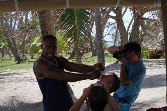 Robinson Crusoe Island:                   coconut juice