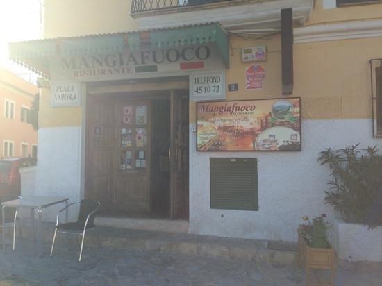 Restaurante Mangiafuoco:                   entrada