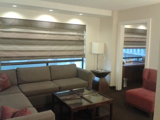 Hyatt Regency Crystal City at Reagan National Airport:                   Living room of suite.