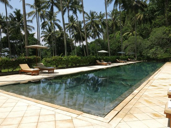 Amankila: Pool by private beach