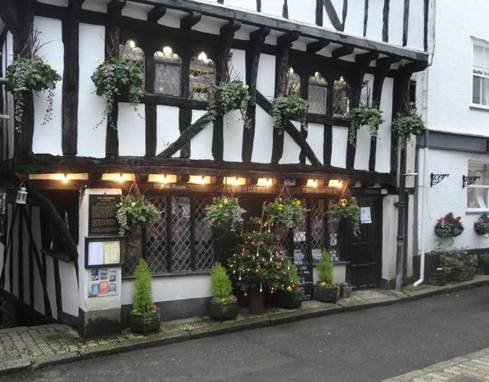 The Cherub Inn Restaurant:                   The Cherub. Dartmouth's oldest building - circa 1380.