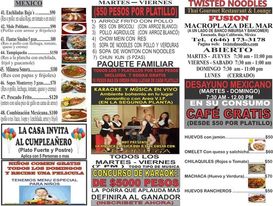Twisted Noodles: many promocion