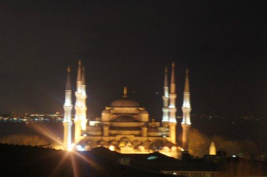 Nena Hotel :                   View from the balcony at night