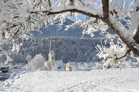 Pension Villa Blumegg : Aussicht Kirche