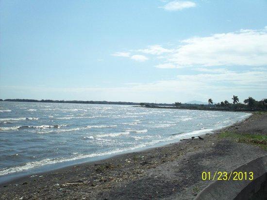 Calle La Calzada: Lake Nicaragua at the end of the street