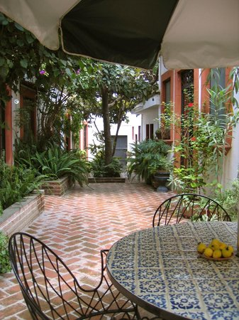 Casita de las Flores: The courtyard