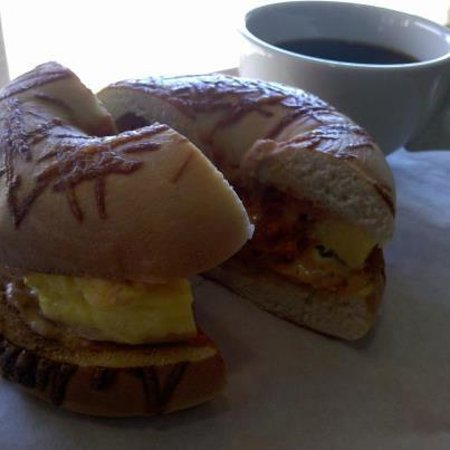 Cafe Bella Coffee:                                     breakfast bagel (world famous)