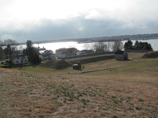 Fort Griswold Battlefield State Park :                   View from the top looking towards the Thames River