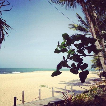A Casa de Irene :                   en arrivant à la plage
