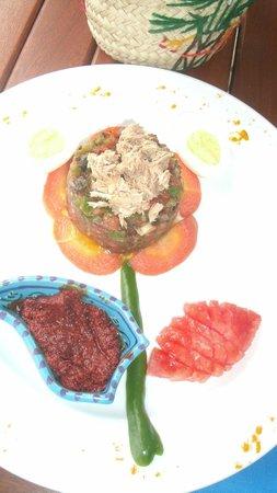 Hotel Dar El Bhar:                   Présentation de mon assiette!