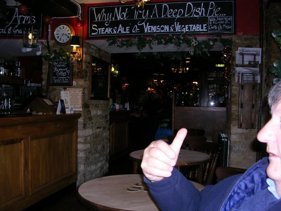 Woodstock Arms:                   Thumbs up from my husband