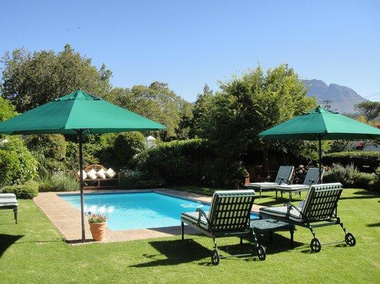 Van der Stel Manor:                   Garten mit Pool