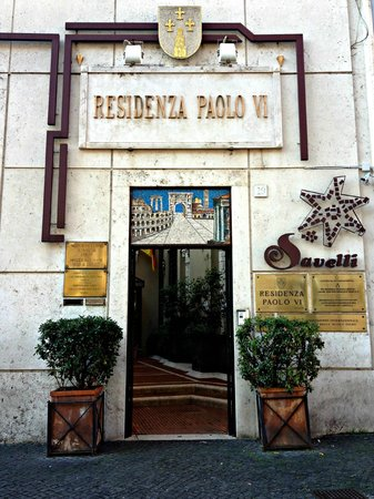 Residenza Paolo VI:                   Entrance from the street