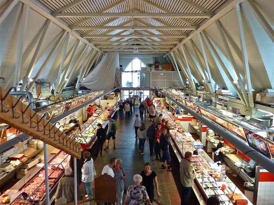 View of the inside of the Fish Church from the upstairs restaurant