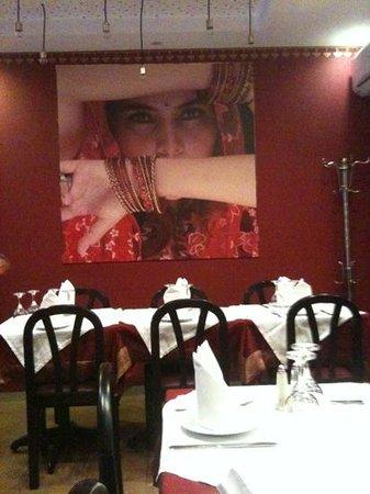Gandhi Palace :                   Decoração do restaurante
