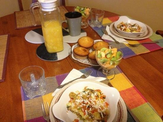 Williams Gate Bed and Breakfast Private Suites:                   the omelette