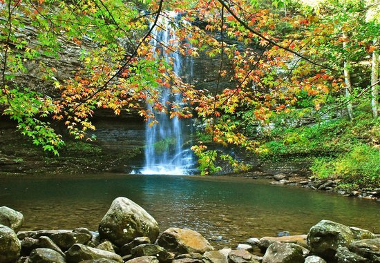 Cloudland Canyon State Park:                   The first of three waterfalls