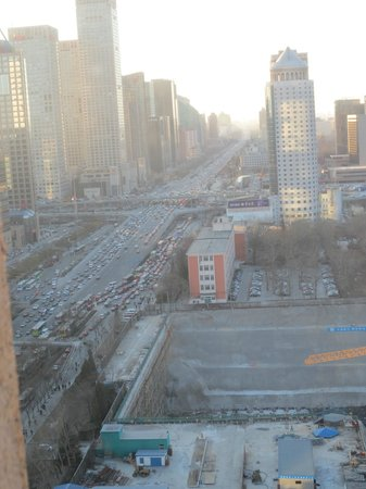 Sofitel Wanda Beijing: Crazy traffic day or night.