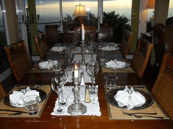 Summerplace Guesthouse:                   Abendtafel