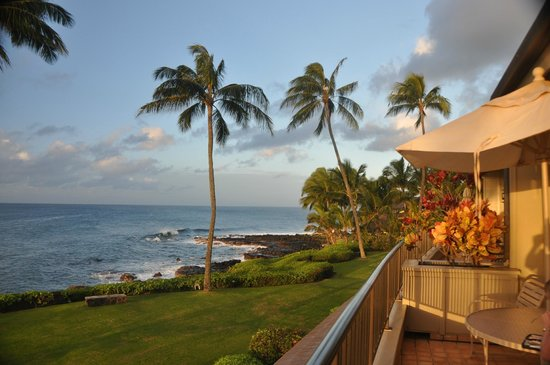 Whalers Cove Resort:                   View from Unit 125s lanai