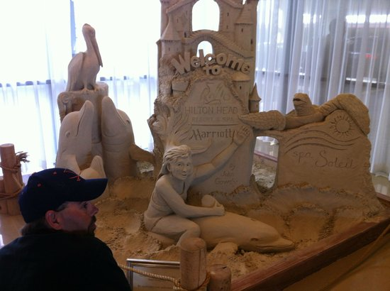 Hilton Head Marriott Resort & Spa:                   Sand Castle inside