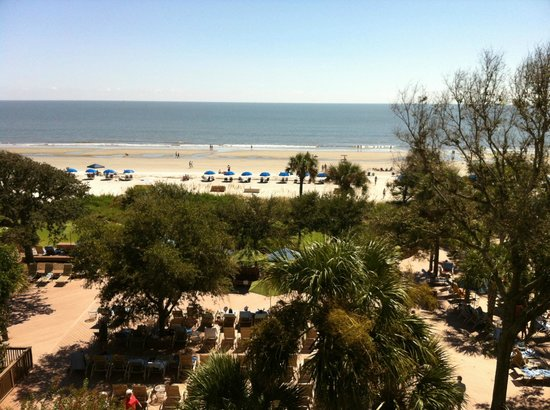 Hilton Head Marriott Resort & Spa:                   Beach view from our room