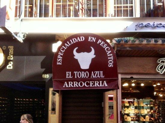 El Toro Azul :                   Toro Azul - doorway