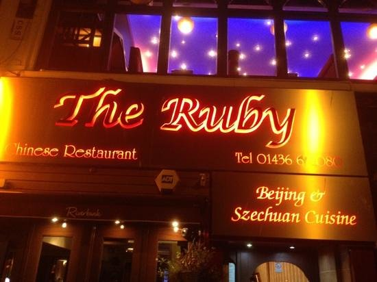 The Ruby:                   The best sea view Chinese restaurant