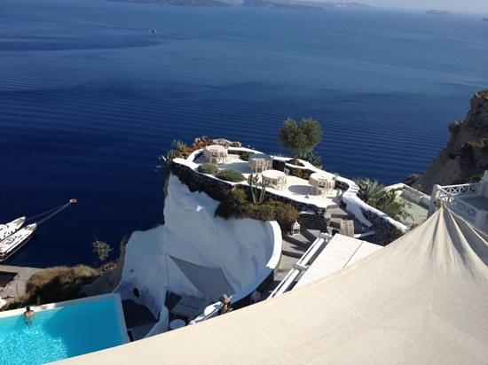 Andronis Luxury Suites:                   la vue de notre chambre