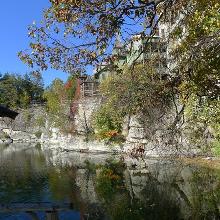Mohonk Mountain House:                   Scenic view of the lake
